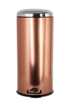 Copper Effect 30L Soft Close Pedal Bin