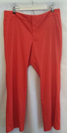 Gap Women's Aubrey Orange/Red Dress Pants~Size 16R #GAP #DressPants