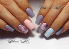 Pin on uñas Stylish Nails, Trendy Nails, Cute Nails, Nail Polish Designs, Nail Art Designs, Gel Nagel Design, Flower Nail Art, Perfect Nails, Spring Nails