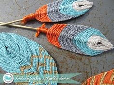 Blue Sky Confections - How to make yarn feathers