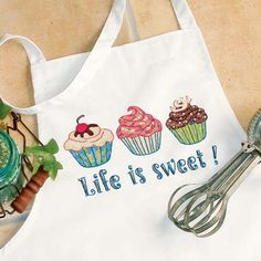 Dimensions Needlecrafts Stamped Cross Stitch, Life Is Sweet Apron.