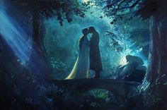 Original oil painting by artist Christopher Clark -Lord-of-the-Rings-LOTR---Aragorn-and-Arwen