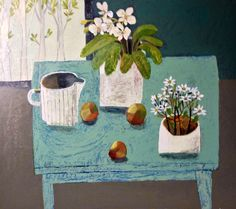 Este MacLeod still life 'blue table' 70x80cm.