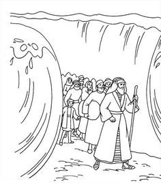 moses moses divide red sea coloring page moses divide red sea coloring page