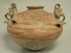 Painted Bowl with Lugs and Faces,Ecuador,Chorrera culture,10th.4th century BCE