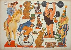 """Paper Doll """"Circus"""""""