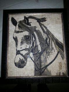 45x50 mosaic horse