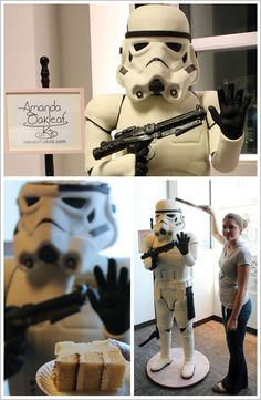 Life Size Stormtrooper Cake  (Sorry Kenny, never goona happen.  Mamas skills will never reach this level) :(
