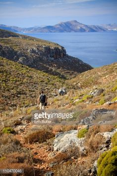 Hiking towards Sikati beach, on the island of Kalymnos, Greece.... #kalymnos: Hiking towards Sikati beach, on the island of… #kalymnos