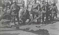 German soldiers after the fall of Helsinki in the Finnish civil war TheRed Guard Headquarter Smolna´s flag thrown to the street Wilhelm Ii, Kaiser Wilhelm, Iconic Photos, Old Photos, World War I, Old World, Finnish Civil War, World Conflicts, Austro Hungarian