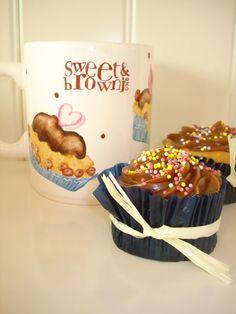 cupcakes de plátano con frosting de cajeta