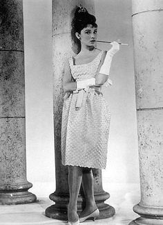 """Remembering Hubert de Givenchy: Audrey Hepburn in Givenchy dress in her film """"Breakfast at Tiffany's"""", Audrey Hepburn Pictures, Audrey Hepburn Poster, Audrey Hepburn Breakfast At Tiffanys, Audrey Hepburn Quotes, Audrey Hepburn Style, Audrey Hepburn Roman Holiday, Holly Golightly, Fair Lady, Old Hollywood"""