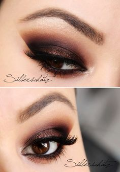 Sexy copper smokey eye.