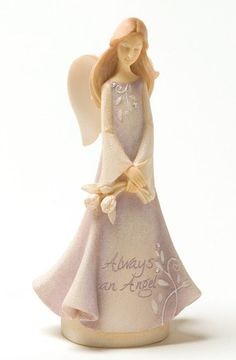 Enesco Foundations Mini Angel of Friends Figurine, ~ Collectible Figurines ~ Olivia Decor - decor for your home and office. Clay Angel, Felt Angel, Christmas Minis, Christmas Angels, Merry Christmas, The Bride Movie, Willow Tree Figurines, Ceramic Angels, Clay Figures