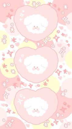 Pink Wallpaper Kawaii, Cute Pastel Wallpaper, Soft Wallpaper, Rilakkuma Wallpaper, Cute Cartoon Wallpapers, Animes Wallpapers, Cute Backgrounds, Wallpaper Backgrounds, We Bare Bears Wallpapers