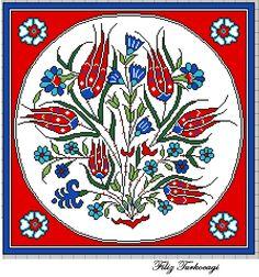 Çini karo .Orjinal çalışma Sn.Mehmet GÜRSOY. Designed by Filiz Türkocağı. ( İZNİK CHİNİ)