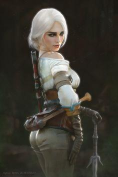 The witcher Cirilla, ciri Ciri Witcher, Witcher Art, The Witcher Wild Hunt, The Witcher Game, Fantasy Warrior, Fantasy Girl, Fantasy Art Women, Character Portraits, Character Art