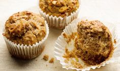 Dan Lepard's honey nut banana muffins recipe: Muffins should at least have a stab at some healthy virtues. Photograph: Colin Campbell for the Guardian Honey Muffins Recipe, Peanut Butter Muffins, Banana Bread Muffins, Baking Muffins, Chocolate Muffins, Breakfast Muffins, Breakfast Ideas, Breakfast Recipes, Muffin Recipes