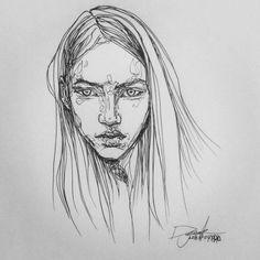 [펜화] woman : 네이버 블로그