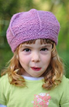Queenie tam beret PDF knitting pattern (instructions) by WoollyWormheadHats  on Etsy Easy Knit Hat 085402315baf