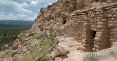 New Mexico Ruins and New Mexico Cliff Dwellings - Puye Cliffs. Well worth a visit when in the Santa Fe area. Must visit by guided tour, several of which are offered.