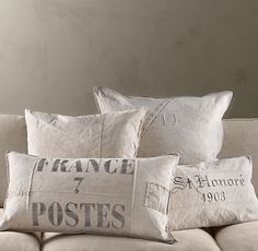France Post Lumbar Tarp Pillow at Ballard Designs. On sale for $28.99