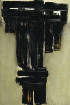 Pierre Soulages (N. 1919), Peinture 195 x 130 cm, 3 février 1957