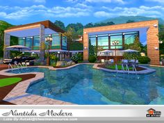 Nantida Modern . Found in TSR Category 'Sims 4 Residential Lots'
