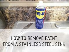 Remove Paint from stainless steel sink. Glad I found this!