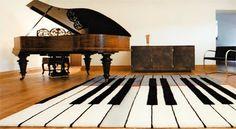 Amazingly Creative: Interesting Rugs. Piano keys for a Piano room.