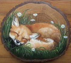 lis,Kettu How To Make Wood Art ? Wood art is typically the work of shaping around and inside, provided that the outer lining of anything is flat. Fox Painting, Wood Painting Art, Stone Painting, Painted Rock Animals, Painted Rocks, Painted Wood, Funny Paintings, Animal Paintings, Wooden Art