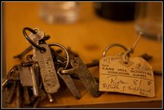 Keys from the derelict Cane Hill Hospital, Coulsdon