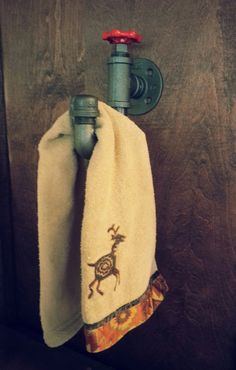 Bathroom Hand Towel Rack  Industrial  Modern  by DesertandIron, $28.00 Towel Holder Bathroom, Hand Towels Bathroom, Towel Hooks, Coat Hooks, Modern Bathroom Decor, Modern Decor, Small Bathroom, Bathroom Ideas, Bathrooms