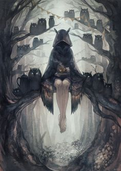 ภาพที่ถูกฝังไว้. Owl Woman