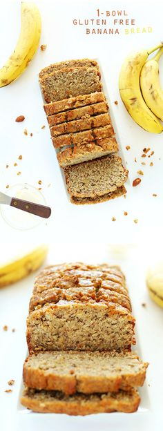 1 Bowl Gluten Free Banana Bread! Wholesome, simple and SO delicious and hearty.