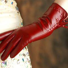 >> Click to Buy << KLSS Brand Genuine Leather Women Gloves Winter Plus Velvet High Quality Goatskin Gloves Fashion Trend Lady Sheepskin Glove 2317 #Affiliate