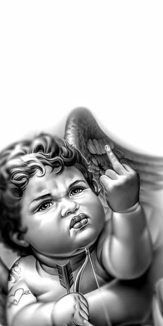 Japan Tattoo Design, Tattoo Design Drawings, Tattoo Sketches, Chicano Style Tattoo, Chicano Tattoos, Black Ink Tattoos, Black And Grey Tattoos, Cherub Tattoo Designs, Dragon Tattoo Drawing