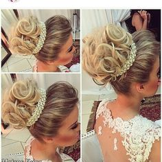 Penteados de casamento coque Elegant Hairstyles, Bride Hairstyles, Cool Hairstyles, Bridal Hair And Makeup, Hair Makeup, Hair Highlights And Lowlights, Mermaid Hair, Hair Today, Hair Dos