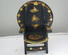 Beautiful Doll House Decoupage Convertible Chair Table