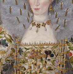 Robert Peake  circa 1551 – circa 1619  Catherine Carey, Countess of Nottingham (c.1547 - 1603) Weiss Gallery