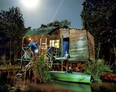 La Creciente: Island Life in Argentina's Paraná Delta - Photographs and text by Alejandro Chaskielberg High Tide, Island Life, Contemporary Artists, Castle, Cabin, Landscape, House Styles, Photography, Contrast