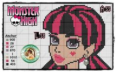 monster high paintings cross stitch patterns - Google Search