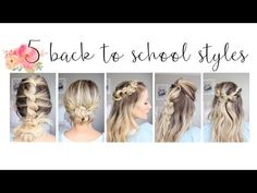 Flower Braid Bun | Back to School Hairstyles | Cute Girls Hairstyles - YouTube