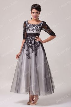 Vintage 1950s LACE Mother of the Bride Party Long Evening Prom Dresses PLUS SIZE