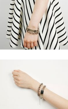 2013 S/S The New Woman's Accessory  Round Metal Chain Bracelet Silver Circle Chain Bracelet www.diplomatique.co.kr