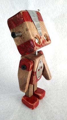 Série Robos em medeira - Wood Robots - 005
