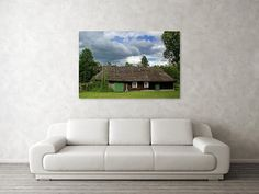 Traditional wooden house on estonian countryside. Fine art print.  #ruralhouse #woodencottage #estonian #baltic #artprint #homedeco #homedecor #homedecorideas #wallart #canvasprint #giftidea #giftideas