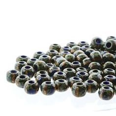 Seedbeads - Blue White Stripe with Dark Travertine Finish Hippie Movement, Travertine, Old World, It Is Finished, Blue And White, Dark, Shop, Things To Sell, Store