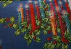 vintage Christmas candles gift wrap