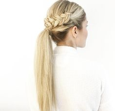 Ponytail with crown braids by Blohaute